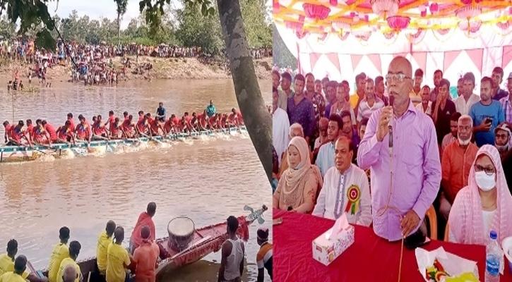 উচ্ছ্বাস-আনন্দে রংপুরে ঐতিহ্যবাহী নৌকা বাইচ অনুষ্ঠিত