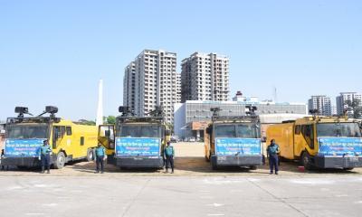করোনাভাইরাস: ঢাকা মহানগরীতে জীবাণুনাশক ছিটালো ডিএমপি