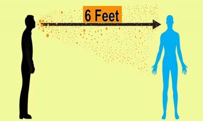 করোনা সংক্রমণ ঠেকাতে যে কারণে দুই মিটার দূরে থাকবেন