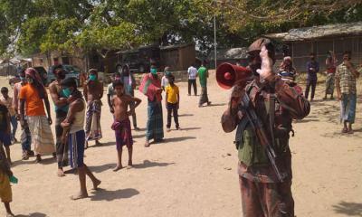 ভাইরাস প্রতিরোধে চাঁপাইনবাবগঞ্জের বিজিবির সতর্কতা