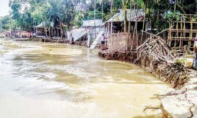 গাইবান্ধায় ব্রহ্মপুত্রের ভাঙনে ১৫৫টি বসতবাড়ি বিলীন