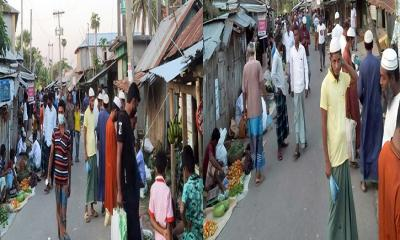 কলাপাড়ায় করোনা বিস্তার রোধে সামাজিক দূরত্ব ব্যাহত হচ্ছে