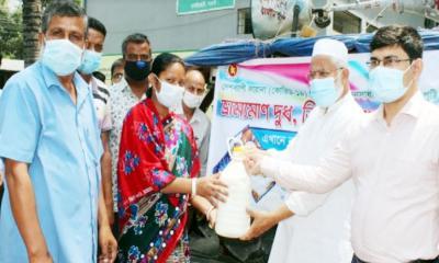 ধামইরহাটে ভ্রাম্যমান দুধ ডিম ও মাংস বিক্রয় কেন্দ্র উদ্বোধন