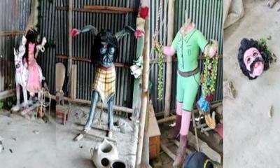 সিরাজগঞ্জে কালী মন্দিরের ৭টি প্রতিমা ভাংচুর