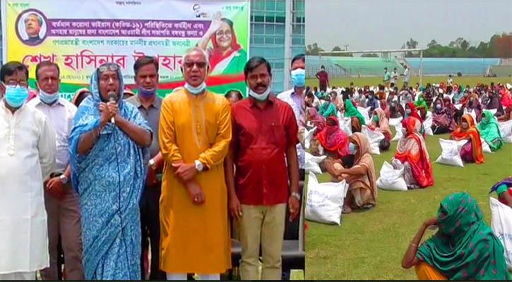 প্রধানমন্ত্রীর উপহার গাইবান্ধায় দু:স্থদের মাঝে বিতরণ
