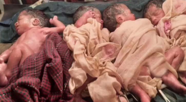 রাজমিস্ত্রীর ঘরে একসঙ্গে ৪ সন্তানের জন্ম