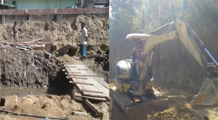 বান্দরবানে পাহাড় কেটে ড্রেন, ড্রেনের উপরে বহুতল ভবন নির্মাণ