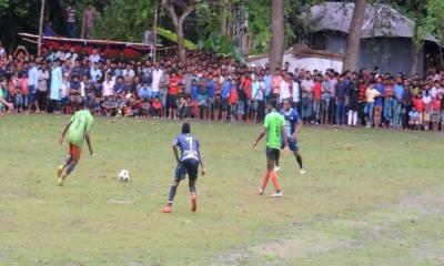 ঝিনাইদহে শেখ রাসেল স্মৃতি ফুটবল টুর্নামেন্টের ফাইনাল খেলা অনুষ্ঠিত