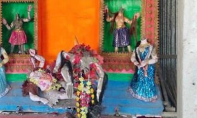 মুন্সীগঞ্জে কালী মন্দিরের প্রতিমা ভাংচুর
